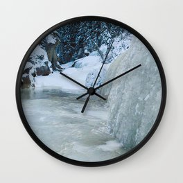 The icewalk in Maligne Canyon, Jasper National Park Wall Clock