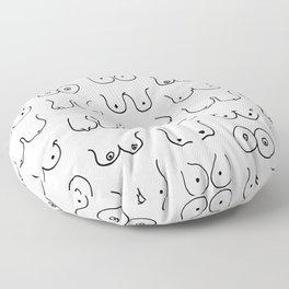 Boobies Sketch Floor Pillow