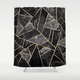 Black Stone 2 Shower Curtain