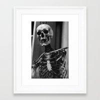 skeleton Framed Art Prints featuring Skeleton by Evan Morris Cohen
