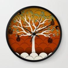 Fruits Talk White Wall Clock