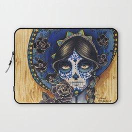 Sombrero Skull Girl Laptop Sleeve