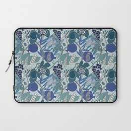 Seven Species Botanical Fruit and Grain in Blue Tones Laptop Sleeve