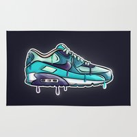 nike Area & Throw Rugs featuring Nike air drop by blackbunny