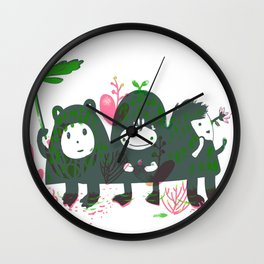 Three Hills Wall Clock
