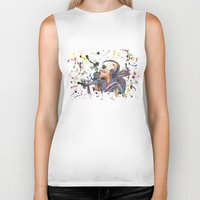 tank girl Biker Tanks featuring Tank Girl by Abominable Ink by Fazooli