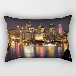 Pittsburgh, Pennsylvania At Night Rectangular Pillow
