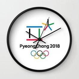 PyongChang 2018 Logo Wall Clock