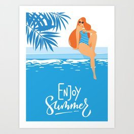 Enjoy Summer #1 Art Print