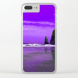 Oregon Coast Abstract Clear iPhone Case