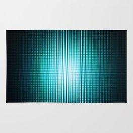 vertical and horisontal blue stripes Rug