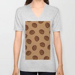 Pattern - Coffee Beans Unisex V-Neck