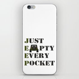 Jeep - Just Empty Every Pocket iPhone Skin