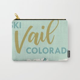 Vail Ski Light Blue Carry-All Pouch