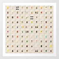 Minimalist Pop Culture poster 001-100 Art Print
