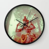 goddess Wall Clocks featuring Goddess by Farkas B. Szabina