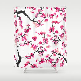 Japanese Cherry Blossoms Shower Curtain