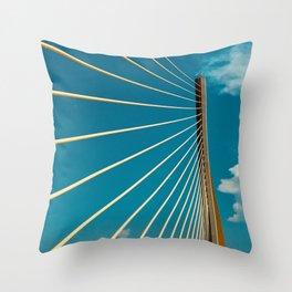 Sunshine Skyway Throw Pillow