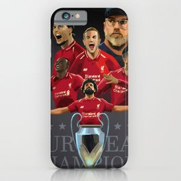 Liverpool Champions of Europe iPhone Case