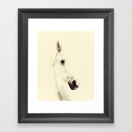 Yellow Horse Framed Art Print