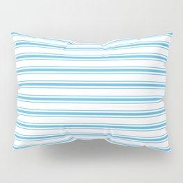 Oktoberfest Bavarian Blue and White Large Mattress Ticking Stripes Pillow Sham