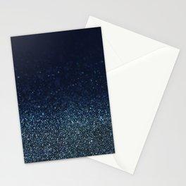 Shiny Glittered Rain Stationery Cards