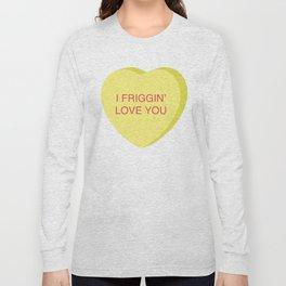 Ron Burgundy Conversation Heart Long Sleeve T-shirt