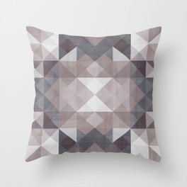 Brown shades Throw Pillow