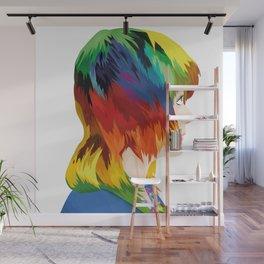 Rainbow Hair Wall Mural