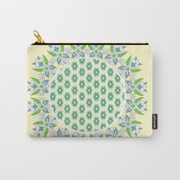 yellow Perisan tile Carry-All Pouch