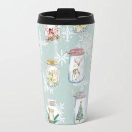 Christmas Jars Mint Travel Mug