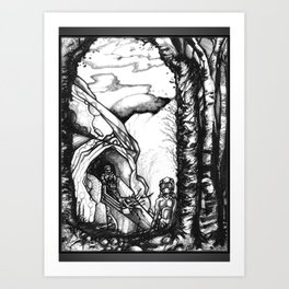 Putting Down Roots - Illustration Art Print