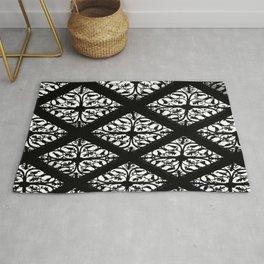 Lacey Black & White Pattern Rug