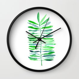 Piece of nature || watercolor Wall Clock
