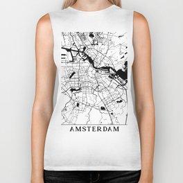 Amsterdam Minimal Map Biker Tank