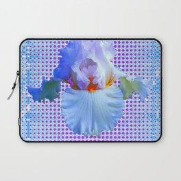 AWESOME BLUISH-WHITE PASTEL IRIS OPTICAL ART Laptop Sleeve