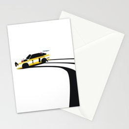 Quattro Slide Rally Car Stationery Cards