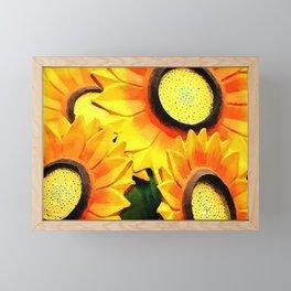 Sunny Sunflowers Framed Mini Art Print
