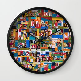 Beer by any Name Wall Clock