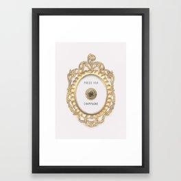 Press For Champagne Framed Art Print