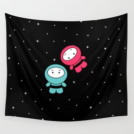 Spaceboy and Spacegirl Wall Tapestry