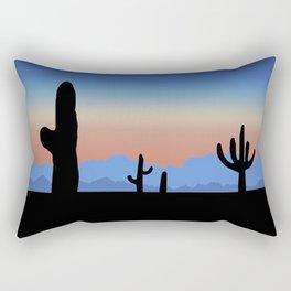 Pink Desert Sunset Rectangular Pillow