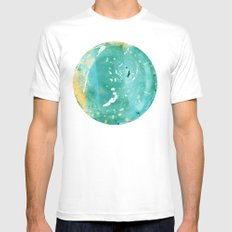 Blue Fantasy Planet MEDIUM White Mens Fitted Tee