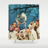 the moon Shower Curtains featuring Moon by Ben Giles