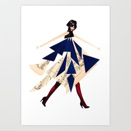 High fashion with shapes Art Print