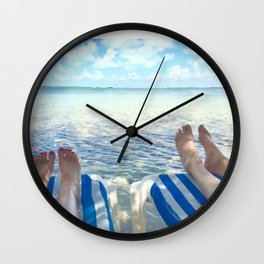 Lovers Toes over Key Largo Wall Clock