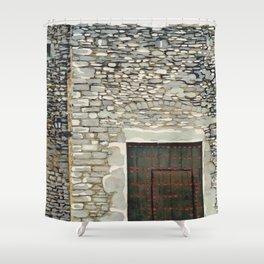 Heavy Wood Door Shower Curtain