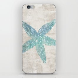 Aqua Starfish iPhone Skin