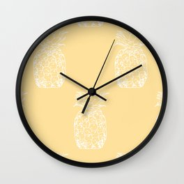 Petite Pineapple yellow Wall Clock