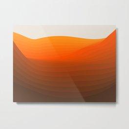 Warm Waves Metal Print